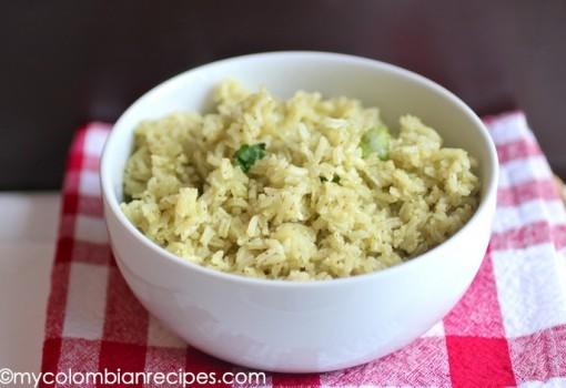 Arroz con Cilantro (Cilantro Rice)-My Colombian Recipes