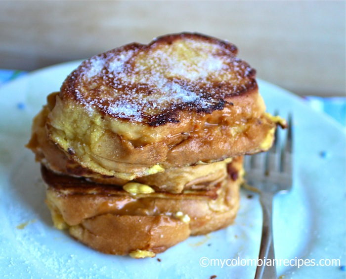 Dulce de Leche and Cream Cheese Stuffed French Toast