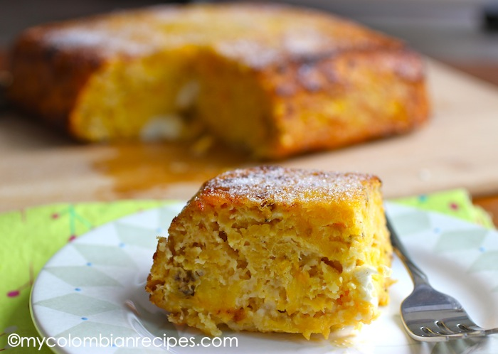 Torta De Maduro Ripe Plantain And Cheese Cake My