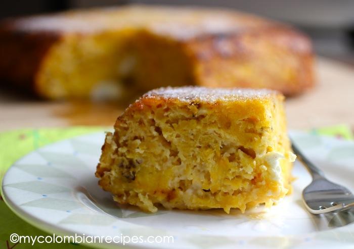 Torta de Maduro (Ripe Plantain and Cheese Cake)