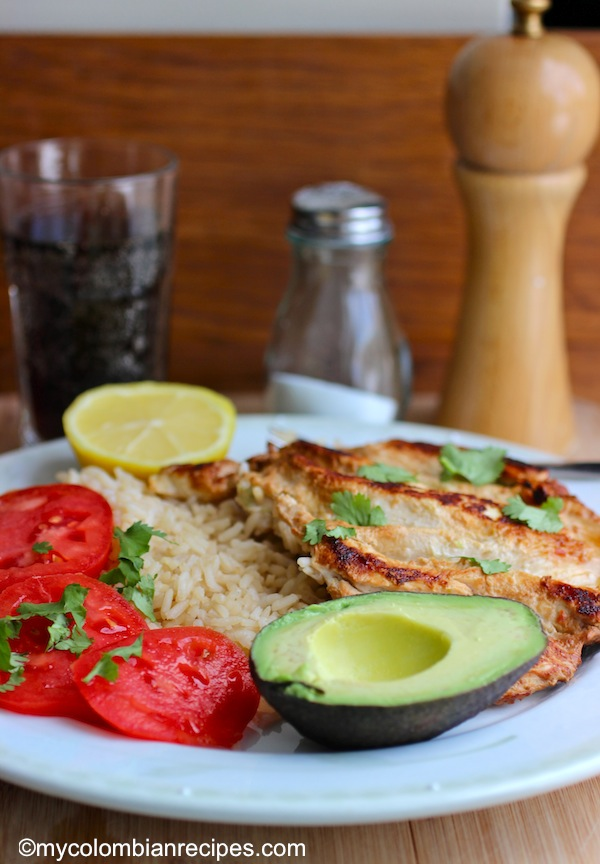 Pollo A La Plancha Colombian Style Grilled Chicken Breast My Colombian Recipes