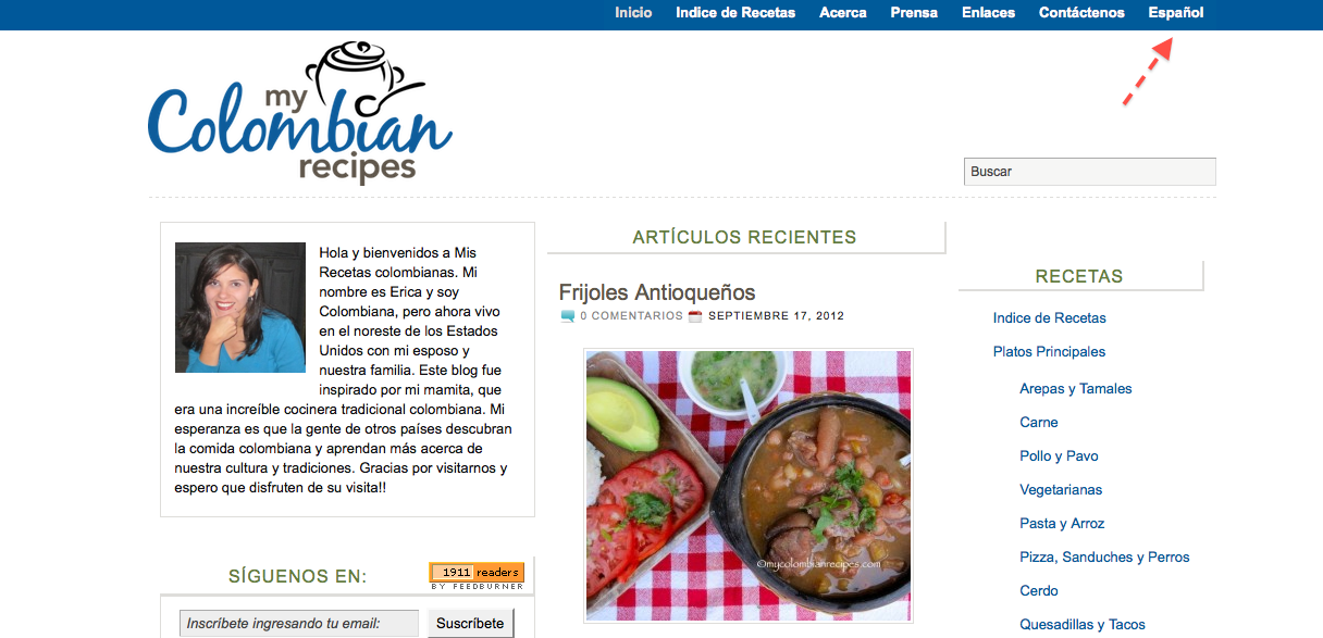 My Colombian Recipes in Español!