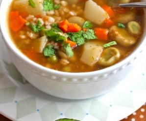 Barley and Fava Bean Soup