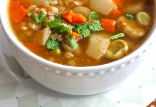 "<span class=""p-name"">Sopa de Habas y Cebada (Barley and Fava Bean Soup)</span>"