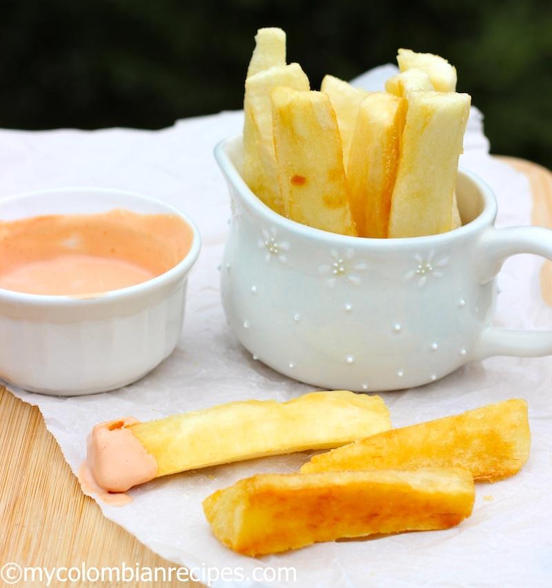 Yuca Frita Con Salsa