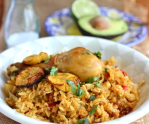 Arroz Atollado de Pollo y Chorizo (Creamy Rice with Chicken and Chorizo)