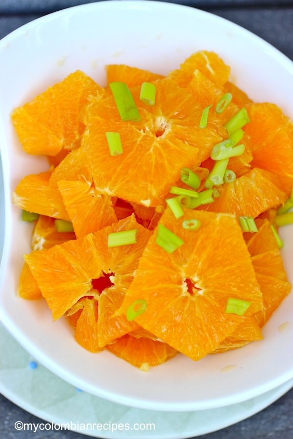 Chuyaco (Colombian Orange Salad)
