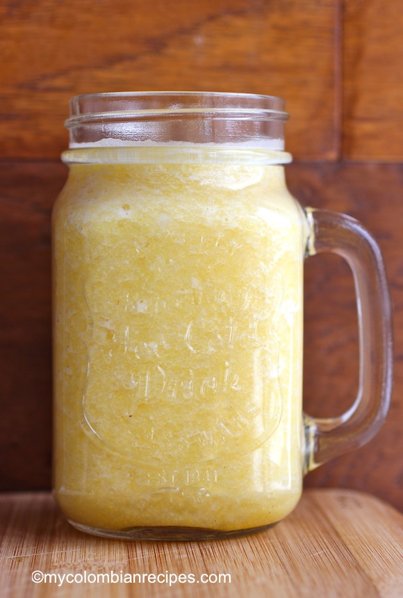 Colada de Piña (Pineapple and Corn Colombian drink)