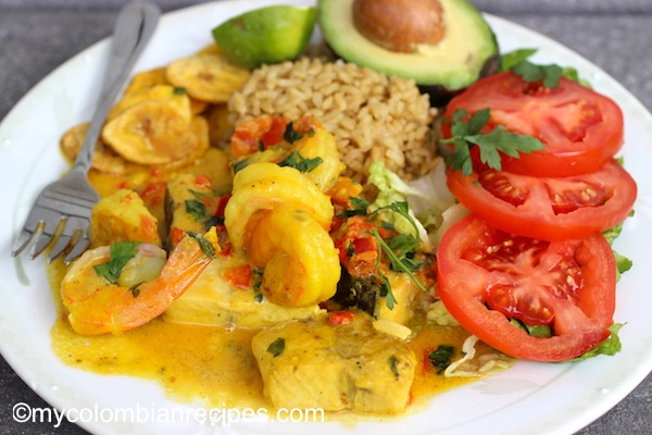 Encocado de pescado y camar n fish and shrimp in coconut for Comida para tilapia