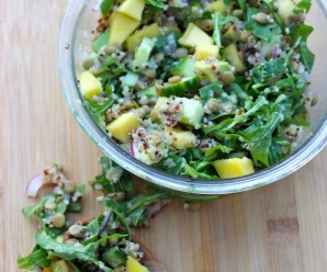 Lentil, Arugula, Mango and Quinoa Salad