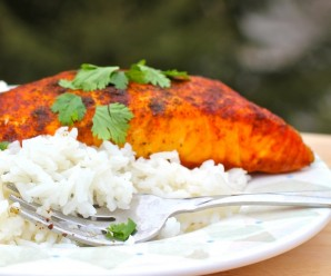 Baked Salmon with Cumin and Achiote