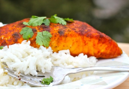 "<span class=""p-name"">Baked Salmon with Cumin and Achiote</span>"