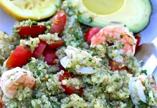 Quinoa, Srimp and Chiichurri Salad