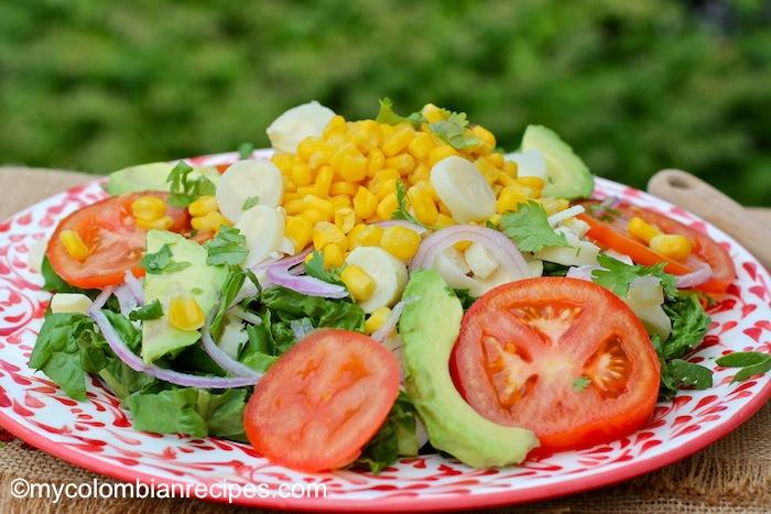 Ensalada de Palmitos y Maíz (Hearts of Palm and Corn Salad)