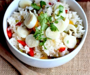 Arroz con Palmitos (Rice with Hearts of Palms) |mycolombianrecipes.com