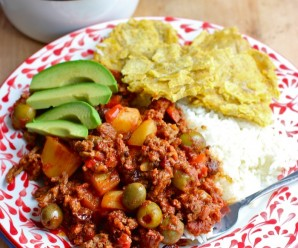 and Beef Bowl Chorizo and Beef Picadillo (Picadillo de Carne y Chorizo ...