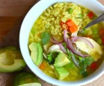 Sopa de Letras con Pollo (Alphabet and Chicken Soup)