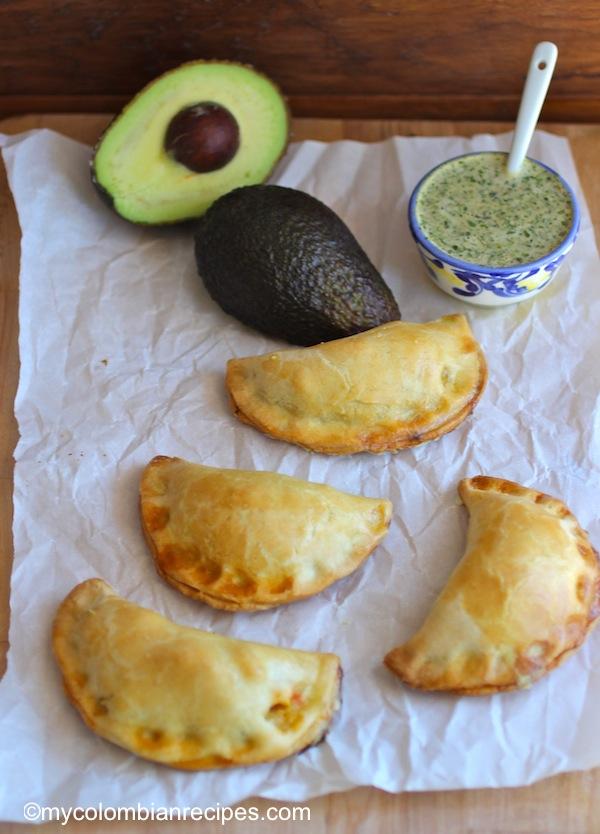 Avocado Empanadas with Cilantro Sauce