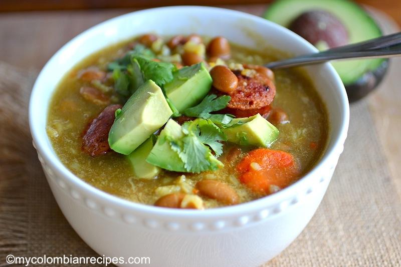 Bean and Rice Soup (Sopa de Arroz y Frijoles)