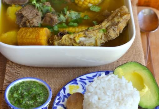 "<span class=""p-name"">Sancocho Antioqueño o Paisa (Paisa Region Soup)</span>"