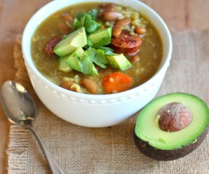 Bean and Rice Soup (Sopa de Arroz y Frijoles)|mycolombianrecipes.com