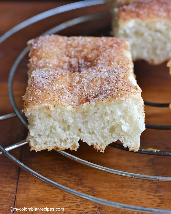 Cinnamon- Sugar Focaccia Bread |mycolombianrecipes.com