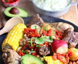 Cocido Boyacense (Boyacá Region Stew)|mycolombianrecipes.com