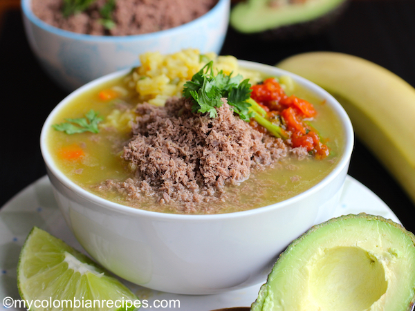 Sopa de Arroz con Carne en Polvo (Rice Soup with Powdered Beef)