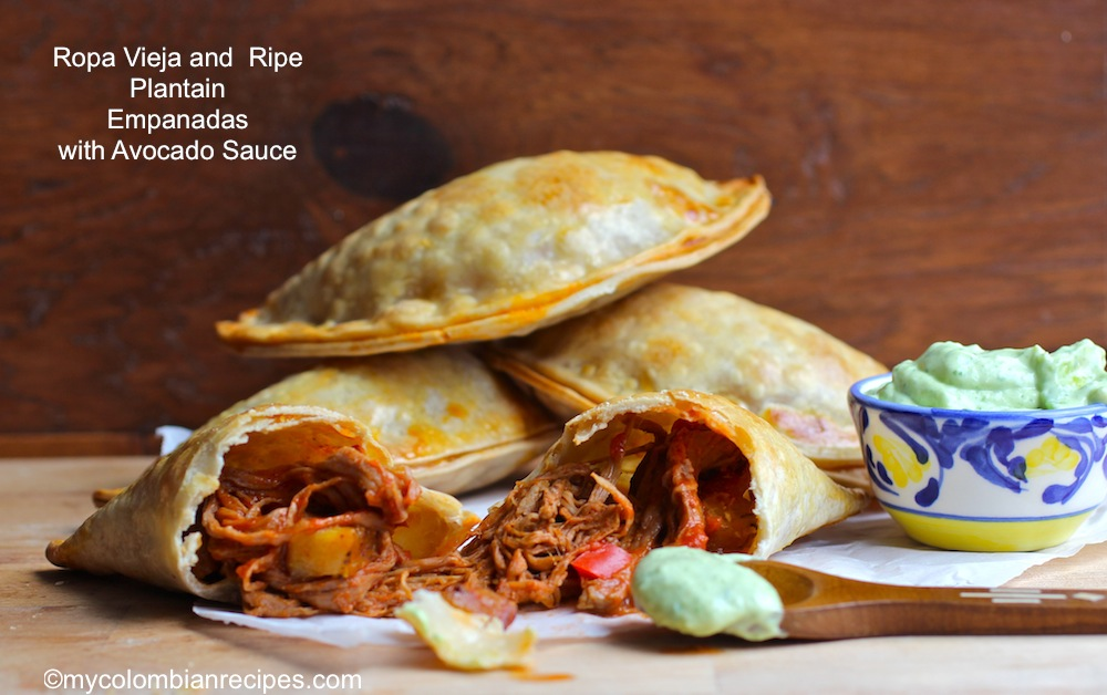 Ropa Vieja and Ripe Plantain Empanadas with Avocado Sauce ...