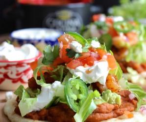 Chipotle Shrimp Mexican-Style Arepa|mycolombianrecipes.com