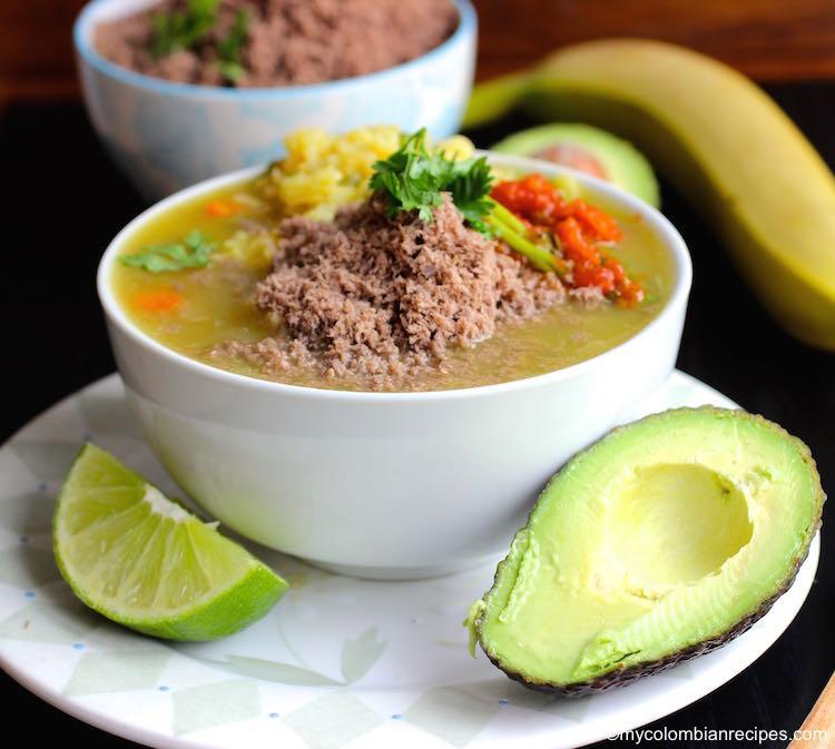 Sopa de Arroz con Carne en Polvo (Rice Soup with Powdered Beef)