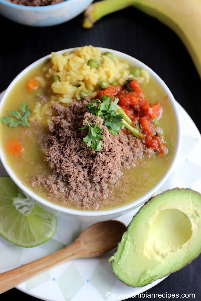 Sopa De Arroz Con Carne En Polvo Rice Soup With Powdered Beef My Colombian Recipes