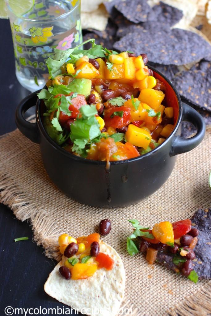 Simple mango salsa
