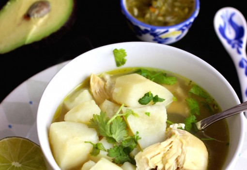 "<span class=""p-name"">Caldo de Pollo con Papa ( Chicken and Potatoes Broth)</span>"