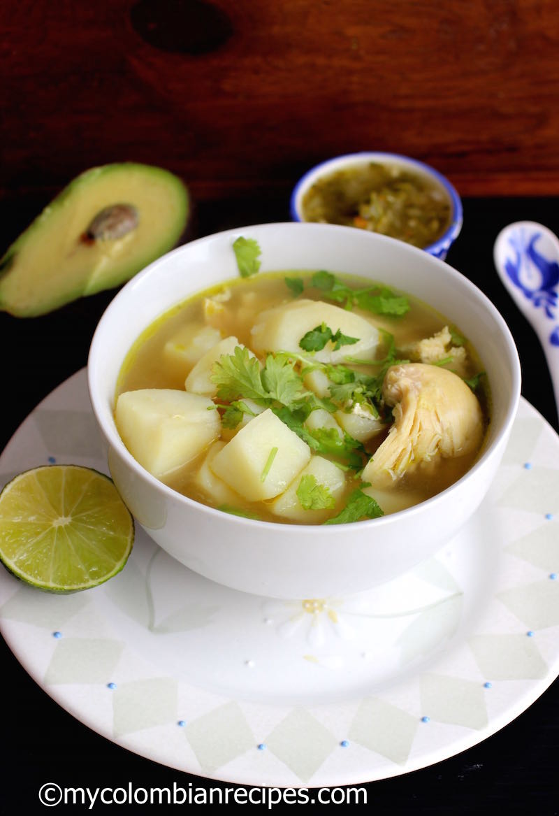 Caldo De Pollo Con Papa Chicken And Potatoes Broth My Colombian Recipes