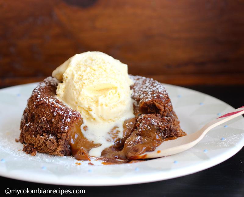Chocolate-Dulce de Leche Lava Cake