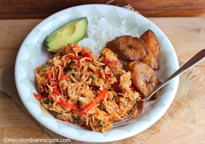 Chicken Ropa Vieja (Shreeded Chicken) |mycolombianrecipes.com