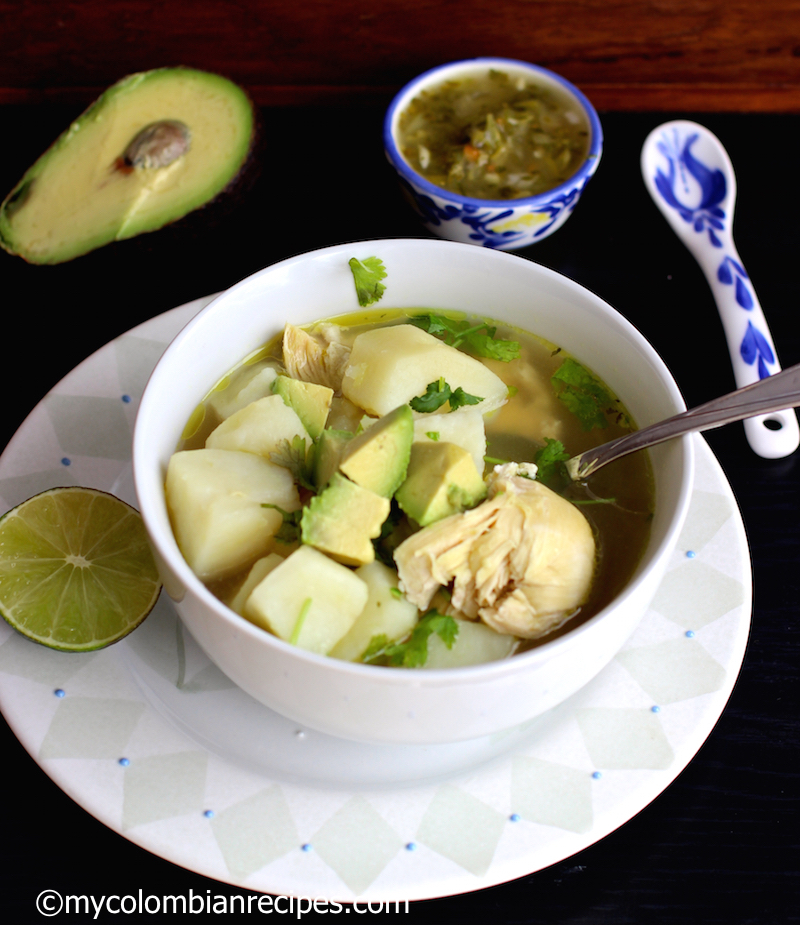 Caldo de Pollo con Papa ( Chicken and Potatoes Broth)