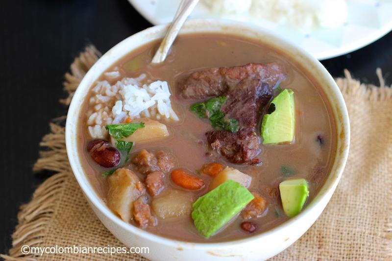 Sopa de Frijoles con Carne (Beans and Beef Soup)