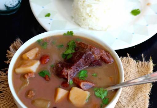 "<span class=""p-name"">Sopa de Frijoles con Carne (Beans and Beef Soup)</span>"