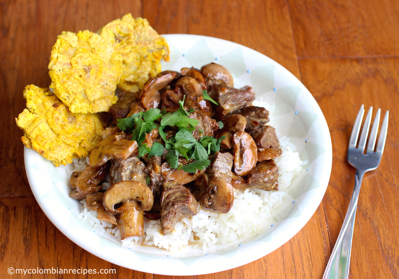 Carne con Champiñones (Beef with Mushrooms)