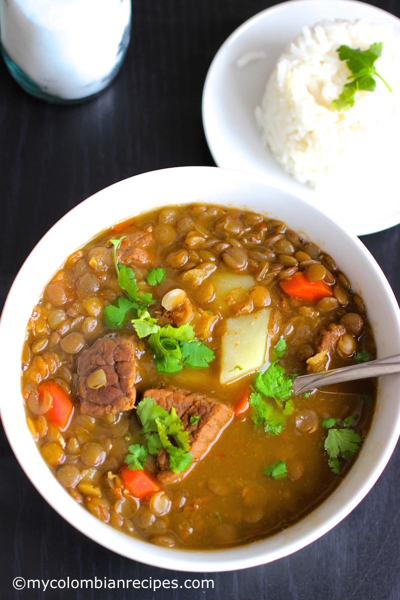 Sopa De Lentejas Con Carne Lentils And Beef Soup My