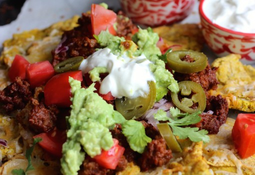 "<span class=""p-name"">Patacón Loaded Nachos</span>"