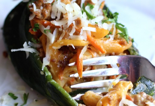 Three Cheese Hamburger Helper® Stuffed Poblano Peppers |mycolombianrecipes.com