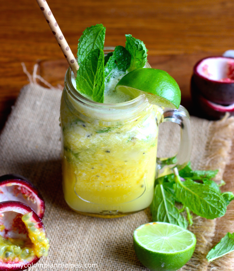 Mango and Passion Fruit Mojito |mycolombianrecipes.com
