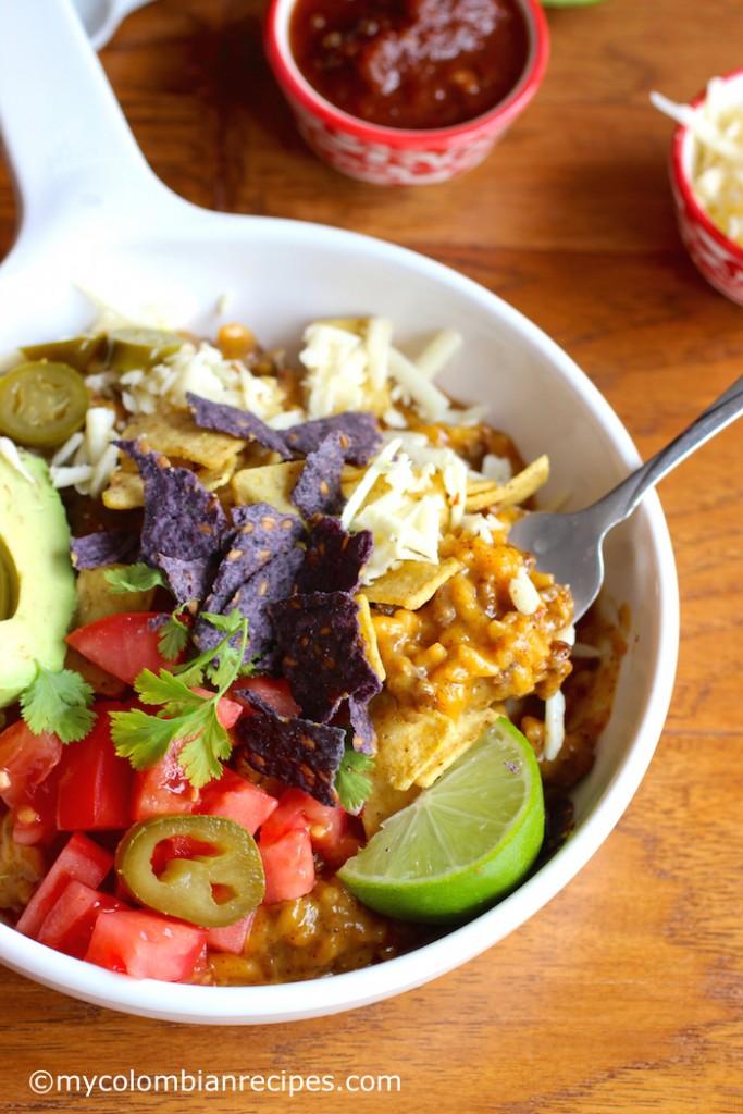 Crunchy Taco Rice and Beef Bowl  mycolombianrecipes.com