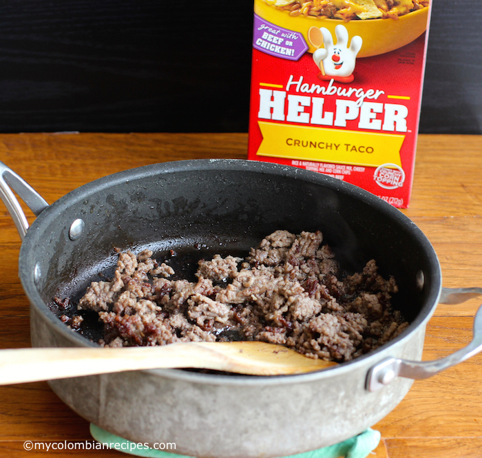 Crunchy Taco Rice and Beef Bowl