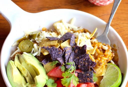 Crunchy Taco Rice and Beef Bowl |mycolombianrecipes.com
