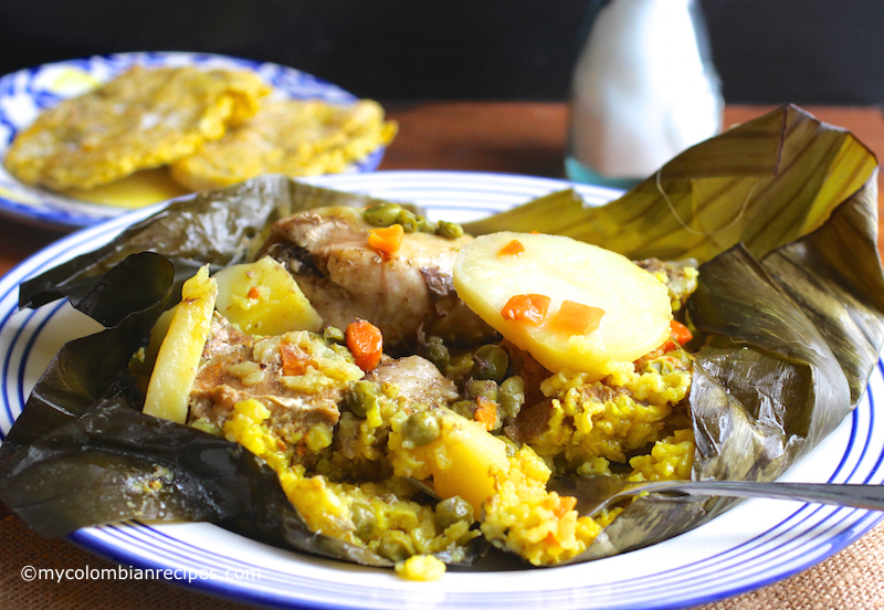 Pasteles de Arroz (Rice Tamales) |mycolombianrecipes.com