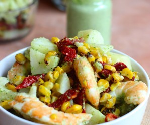 Potato and Shrimp Salad with Cilantro and Lime Dressing|mycolombianrecipes.com